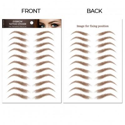 Arched Bella-Brown | Waterproof Eyebrow Tattoos | Eyebrow Stickers