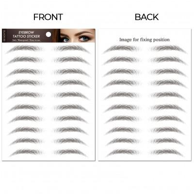 Flat-Charcoal | Waterproof Eyebrow Tattoos | Eyebrow Stickers