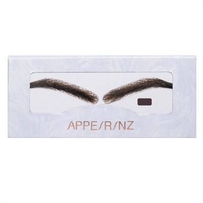 Dark Brown Arched Fake Eyebrows | Stick On Eyebrow Wigs