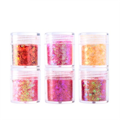 Blossom | 6 Colors Face Makeup Chunky Glitter