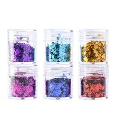 Stars | 6 Colors Face Makeup Chunky Glitter
