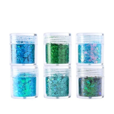 Aurora Borealis | 6 Colors Face Makeup Chunky Glitter