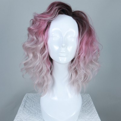Pink Blossom| Pink Ombre Synthetic Hard Front Wig