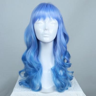 Juvia | Blue Ombre Wavy Synthetic Wig