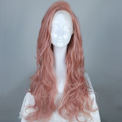 Coral Queen | Pink Synthetic Lace Front Wig