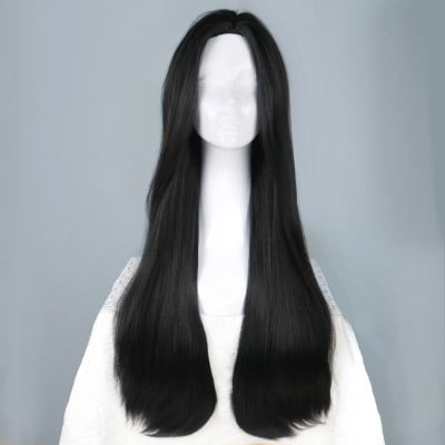 Black Pearl | Black Synthetic Hard Front Wig